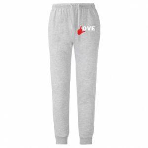 Spodnie lekkie męskie Fuck love