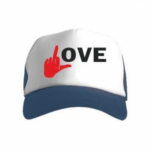 Czapka trucker dziecięca Fuck love