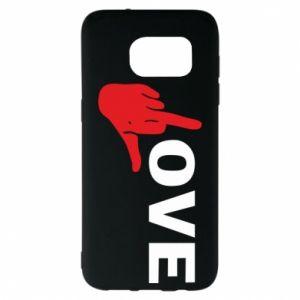 Etui na Samsung S7 EDGE Fuck love