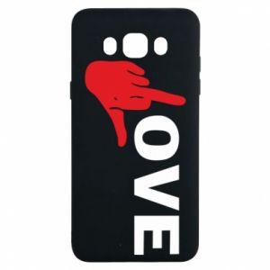 Etui na Samsung J7 2016 Fuck love