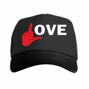 Czapka trucker Fuck love