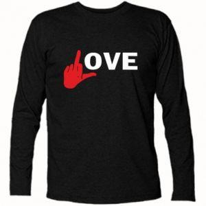 Koszulka z długim rękawem Fuck love