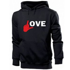 Men's hoodie Fuck love