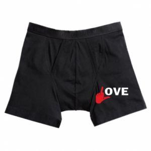 Bokserki męskie Fuck love