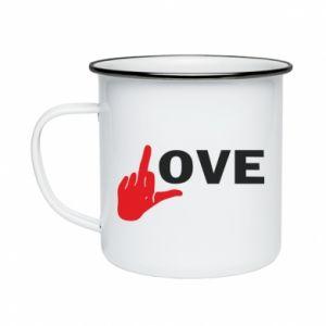 Kubek emaliowany Fuck love