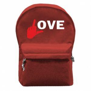 Plecak z przednią kieszenią Fuck love