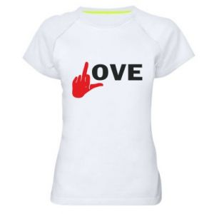 Koszulka sportowa damska Fuck love