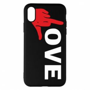 Etui na iPhone X/Xs Fuck love