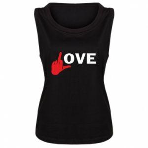 Damska koszulka bez rękawów Fuck love