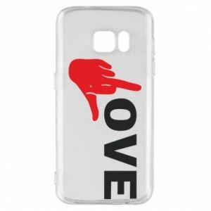 Etui na Samsung S7 Fuck love