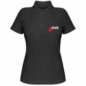 Koszulka polo damska Fuck love