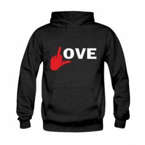 Bluza z kapturem dziecięca Fuck love