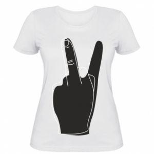 Damska koszulka Fuck or peace