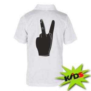 Dziecięca koszulka polo Fuck or peace