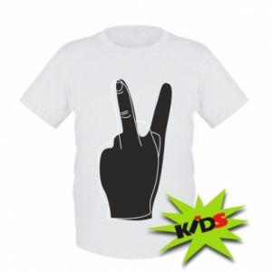 Dziecięcy T-shirt Fuck or peace