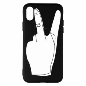 Phone case for iPhone X/Xs Fuck or peace