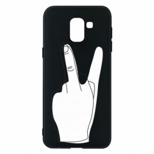 Phone case for Samsung J6 Fuck or peace
