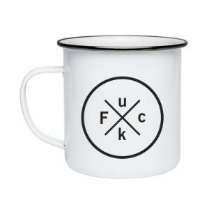 Enameled mug Fuck