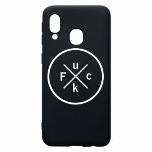 Phone case for Samsung A40 Fuck
