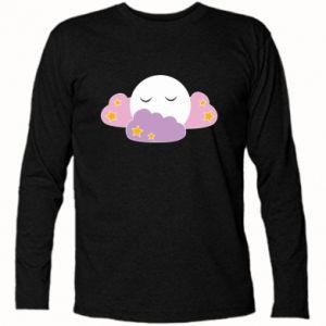 Long Sleeve T-shirt Full moon in the clouds - PrintSalon