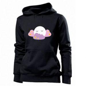 Women's hoodies Full moon in the clouds - PrintSalon