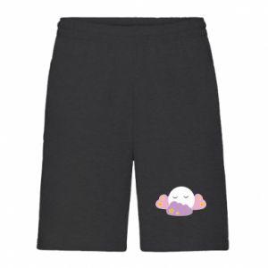 Men's shorts Full moon in the clouds - PrintSalon