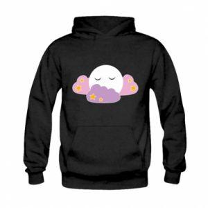 Bluza z kapturem dziecięca Full moon in the clouds