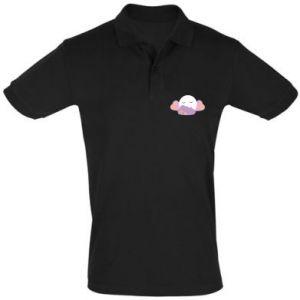 Men's Polo shirt Full moon in the clouds - PrintSalon