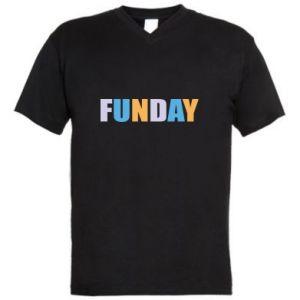 Męska koszulka V-neck Funday