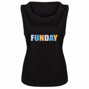 Damska koszulka bez rękawów Funday