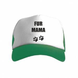 Czapka trucker dziecięca Fur mama