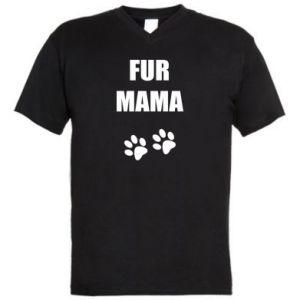 Męska koszulka V-neck Fur mama