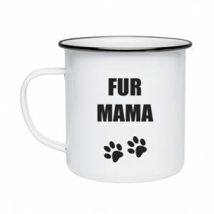 Kubek emaliowane Fur mama