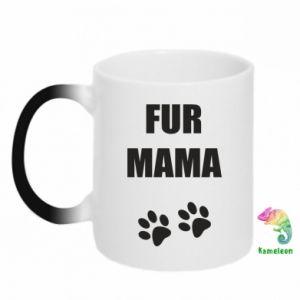 Kubek-kameleon Fur mama