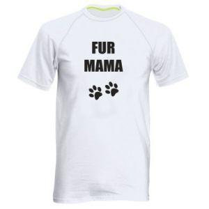Męska koszulka sportowa Fur mama