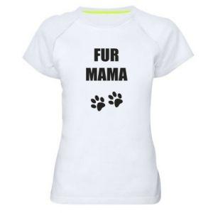 Damska koszulka sportowa Fur mama