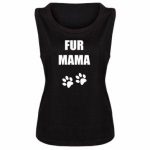 Damska koszulka bez rękawów Fur mama