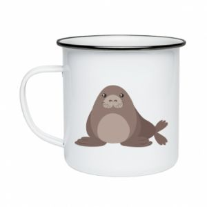 Enameled mug Fur seal