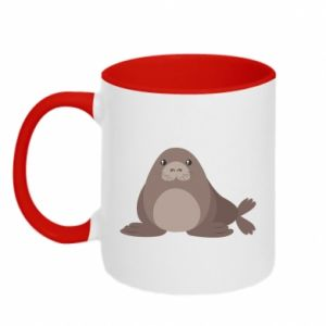 Two-toned mug Fur seal