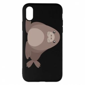 Phone case for iPhone X/Xs Fur seal