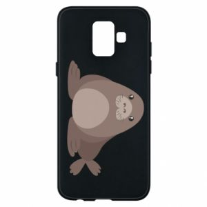 Phone case for Samsung A6 2018 Fur seal
