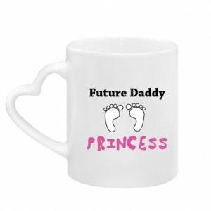 Mug with heart shaped handle Future  dad princess