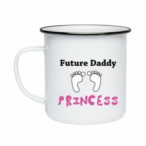 Kubek emaliowany Future  dad princess