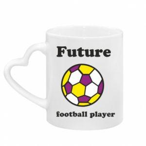 Kubek z uchwytem w kształcie serca Future football player