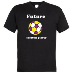 Men's V-neck t-shirt Future football player - PrintSalon