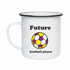 Enameled mug Future football player - PrintSalon