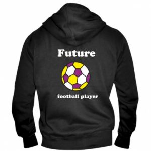 Men's zip up hoodie Future football player - PrintSalon