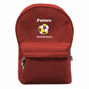 Backpack with front pocket Future football player - PrintSalon
