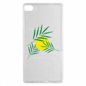Etui na Huawei P8 Gałązki palmowe