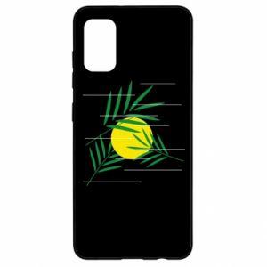 Etui na Samsung A41 Gałązki palmowe